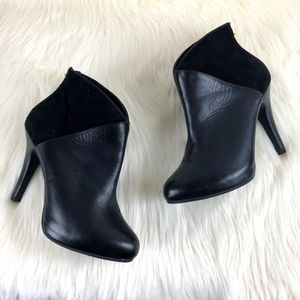 "Me Too ""Lexington 6"" Black Suede Leather Booties"